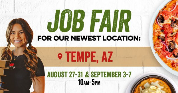 Job Fair Tempe, AZ August 27-31 & September 3-7 - 10am - 5pm
